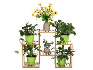 Multi-layer Plant Shelve Floor-standing Potted Plant Rack Thicken Batten Breathable Material for Garden Sets-Type A