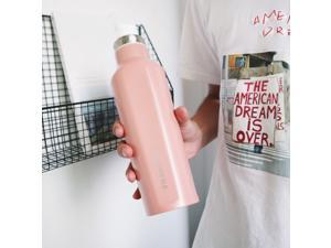 500ML Insulted Mug Stainless Steel Coffee Bottles Mugs Vacuum Flask Thermoses For Gifts-Pink