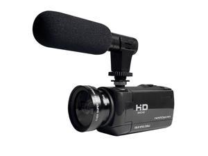 18x Digital Zoom 1080P HD Digital Camcorder Video Vlogging Camera External Microphone DV-Only Microphone