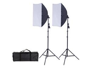2 x 85W Continuous Bulb Light Softbox Photography Lighting Kit