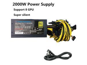2000W Power Supply 2000W ATX Antminer PSU 2000W ATX Computer Power Supply For Mining Machine Support 8 Pieces Graphics Card