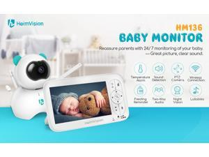 HM136 5.0 Inch Baby Monitor with Camera Wireless Video Color 720P HD Nanny Security Night Vision Temperature Camera