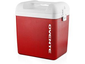 Ovente Portable Outdoor Personal Ice Chest Insulated Cooler Box 6 Quart, Easy Storage Ceramic Foam Food Container with Carrying Handle, Great for Camping, Lunch, Beach, Picnic or Fishing, Red CP1560R