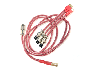 Kraken Aviator Cable - 10 Colors - Keyboard Cable with Aviator Connector + 3 USB Adapters