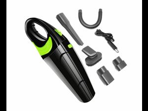 Wireless Vehicle Vacuum Cleaner Usb Charged Handheld Vacuum Cleaner - Black Green Black