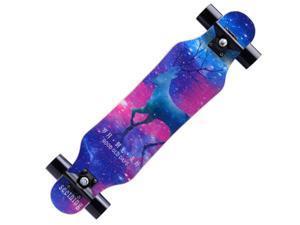 WJS Skateboard 7 Layers Decks Mini Complete Skate Board Maple Wood Longboards for Teens Adults Beginners Girls Boys Kids-12