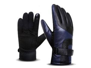 Stylish And Elegant Winter Warm Touch Screen Gloves For Men Blue