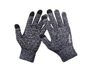 Winter Touch Screen Thermal Knit Gloves Men Women For Smart Phone Black White