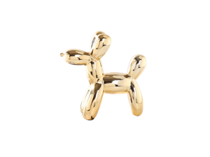 Balloon Dog Money Bank,Unique Ceramic Piggy Bank With High-Gloss Finish - Gold White