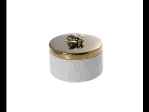 Ceramics Jewelry Storage Tank,Small Jewelry Box Simple Storage Tank - Unicorn Gold