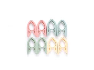8Pcs Travel Folding Hanger Portable Mini Retractable Hanger Random Pink 8Pcs