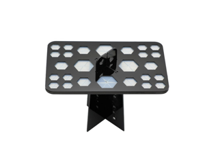 Removable Cosmetic Brush Receiving Frame For 26-Hole Air-Drying Frame Black Square Hole