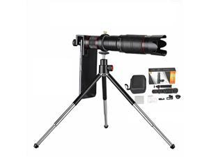36X Universal Telephoto Lens Mobile Phone Optical Zoom Telescope Camera Double Regulation Lens with Tripod&Remote Shutter