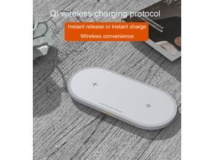 SIROKA 2 In 1 Wireless Phone Charger 10 Watt Smart Magic Circle QI Wireless Desk Charger pad for Mobile Phones