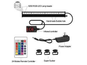 (45cm)-IP68 Waterproof RGB Aquarium Bubble Lamp Changeable Color Fish Tank Lights Amphibious Diving Lamp