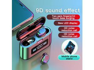 SIROKA-IPX6 waterproof portable mini earbuds stereo surround Hi-Fi wireless earbuds LED digital power display bluetooth headset in-ear wireless earphone