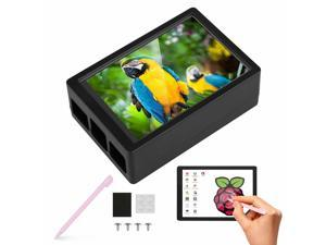 6 LED Touch LCD Screen Set W/ Case + Pen For Raspberry Pi 4 B Support HDMI Audio