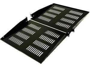 """AEONS 1U Universal Rack Shelf Vented Cantilever Shelf for 19"""" Server -Fixed Server Rack Cabinet Shelf-15"""" Deep 2 - Pack"""