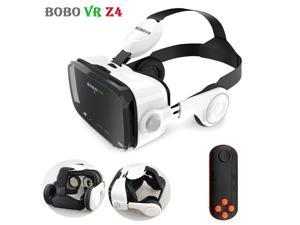 HISPETECH BOBOVR Z4 Original VR Headset Leather 3D Cardboard Helmet Virtual Reality VR Glasses Headset Stereo Box with Controller for Android Smartphone 4-6'