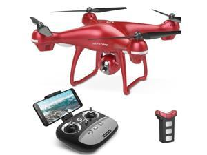 Holy Stone - HS100G FPV Drone with 1080P FHD Camera 5G Wifi GPS Quadcopter, Red