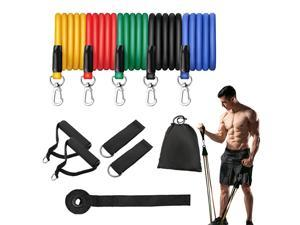 11Pcs Resistance Bands Set Expander Yoga Exercise Fitness Rubber Tubes Band Stretch Training Home Gyms Workout Elastic Pull Rope