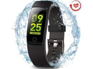 MorePro Waterproof Health Tracker with Heart Rate Blood Pressure Calories Pedometer Sleep Monitor Call/SMS Remind for Smartphones Gift