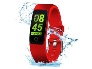MorePro Waterproof Activity Tracker with Heart Rate Blood Pressure Monitor, Smart Step Calories Counter, Call/SMS Remind for Smartphones