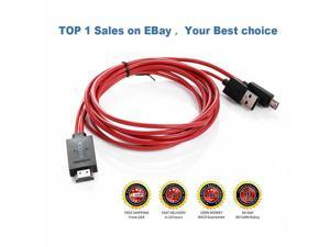 MHL Micro USB to HDMI 1080P HD TV Cable Adapter for  Galaxy S4 S3 Note 2