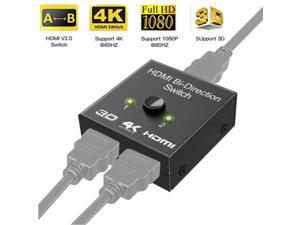 4K Bi-Direction HDMI 2.0 Switch Switcher Splitter Hub HDCP 2x1 1x2 In Out 1080P