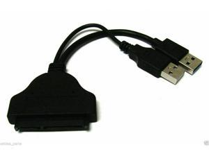 """USB to SATA 22 Pin Data Power Cable Adapter for 2.5"""" HDD Hard Disk Driver"""
