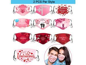 20PC Valentines Disposable Face_Mask for Adult Couples Cotton Earloop Mouth Protective Face_Cover for Women Men Festival Party