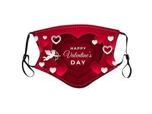 Valentines Disposable Face_Mask for Adult Couples Cotton Earloop Mouth Protective Face_Cover for Women Men Festival Party