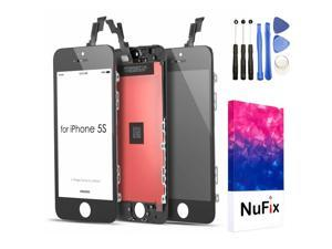 NuFix LCD Replacement for Apple iphone 5S / 5SE Screen Glass LCD Display Touch Digitizer assembly with Frame and Tools A1453 A1457 A1518 A1528 A1530 A1533 A1724 A1662 A1723 black