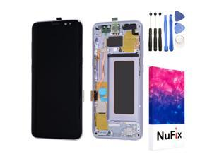 NuFix LCD Replacement for Samsung Galaxy S8 SM-G950W  SM-G950UZ SM-G950N SM-G950F SM-G9308 Screen Glass LCD Display Touch Digitizer assembly with Frame and Tools G935W8 G935A Orchid grey