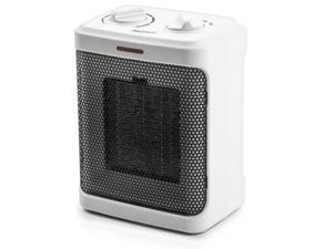 Pro Breeze Space Heater – 1500W Electric Heater with 3 Operating Modes, Adjustable Thermostat, Tip-over and Overheat Protection for Home, Office and Under Desk - White
