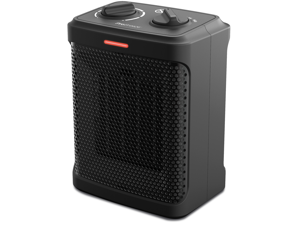 Pro Breeze Space Heater – 1500W Electric Heater with 3 Operating Modes, Adjustable Thermostat, Tip-over and Overheat Protection for Home, Office and Under Desk - Black