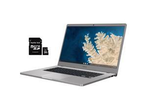 "Samsung Chromebook 4+, 15.6"" Full HD 1080p Notebook, Intel Celeron Processor N4000, 4GB RAM, 32GB eMMC, Wi-Fi, Bluetooth, Webcam, Chrome OS, Bundled with Pearlite Tech 16GB Micro SD Card"