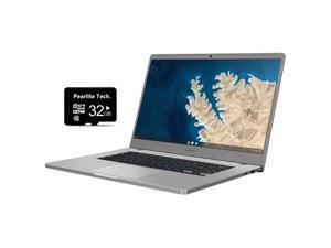 "Samsung Chromebook 4+, 15.6"" Full HD 1080p Notebook, Intel Celeron Processor N4000, 4GB RAM, 32GB eMMC, Wi-Fi, Bluetooth, Webcam, Chrome OS, Bundled with Pearlite Tech 32GB Micro SD Card"