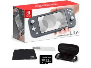 """Newest Nintendo Switch Lite for Family Christmas Holiday, 5.5"""" Touchscreen Display, Built-in Plus Control Pad, Speakers, Gray, Bundle with Pearlite Tech 32GB Micro SD card & Protection Case Kit"""