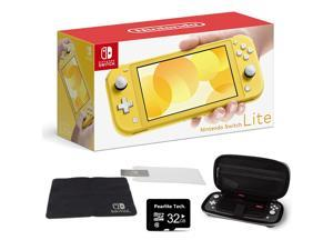 """Newest Nintendo Switch Lite for Family Christmas Holiday, 5.5"""" Touchscreen Display, Built-in Plus Control Pad, Speakers, Yellow, Bundle with Pearlite Tech 32GB Micro SD card & Protection Case Kit"""
