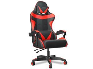 ZHUAX Ergonomic Computer Gaming Chair office chair E-Sports Chair Racing Style , Class 4 Gas Lift Cylinder PU Leather High Back Seat Height Adjustable Swivel, with Headrest and Lumbar Support