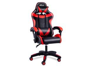 ZHUAX Ergonomic Computer Gaming Chair Office Chair E-Sports Chair Racing Style, Class 4 Gas Lift Cylinder PU Leather High Back Seat Height Adjustable Swivel, with Headrest and Lumbar Support