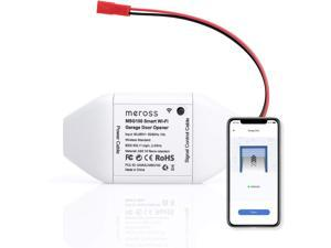 [Limited time sell, Original price is $49.99] meross MSG100 Smart Wi-Fi Garage Door Opener Remote, APP Control, Compatible with Alexa, Google Assistant and IFTTT, No Hub Needed