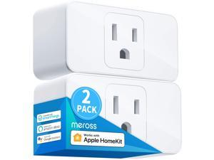 """[Controlled By """"Hey Siri""""] meross Smart Wi-Fi Mini Plug 16A - Apple Certified with meross App, Works with Apple HomeKit, Amazon Alexa, Google Assistant, Siri, SmartThings, No Hub Required, 2 - Pack"""