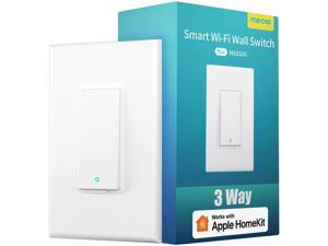 "[Controlled By ""Hey Siri""] meross Smart Wi-Fi 3-Way Light Switch, Apple Certified With meross App, Apple HomeKit, Amazon Alexa, Google Assistant, SmartThings, No Hub Required, MSS550HK"