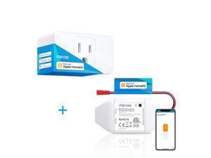 [Bundle Sale Apple HomeKit] meross Smart Wi-Fi Garage Door Opener + WiFi Smart Plug Mini 1 Pack