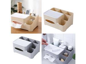Living Room Bedroom Remote Controller Tissues Make Up Tools Grid Organizer Storage Box Case