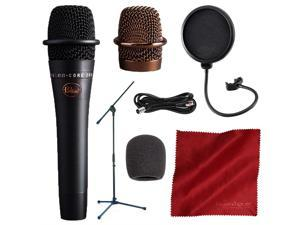 BLUE Encore 200 Studio Grade Phantom Powered Active Dynamic Microphone, Black with Mic Boom Stand and Deluxe Accessory Bundle