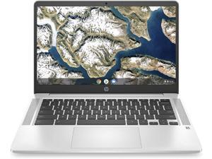 "HP Chromebook 14 Laptop Computer 14"" FHD IPS Display Intel Celeron N4000 4GB RAM 64GB eMMC + 128GB SD Card Intel UHD Graphics 600 B&O Webcam WiFi Chrome OS"