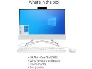 "HP 22 All-in-One AIO Desktop Computer PC- 21.5"" FHD 1080P IPS Anti-Glare Display AMD Athlon Gold 3150U  8GB DDR4 256GB SSD WiFi DVDRW Pop-up Webcam Win 10"